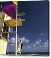 Beach Warning Flags Canvas Print