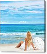 Beach Woman Canvas Print