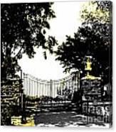 Beacon Rock Gate Newport Ri Canvas Print