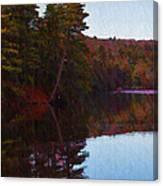 Bear Creek Lake In The Poconos Canvas Print