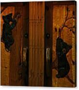 Bear Doors Carved Canvas Print