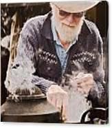 Bearded Miner Making Billy Tea Canvas Print
