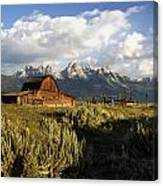 Beautiful Barn Grand Teton  Canvas Print