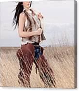 Beautiful Cowgirl Canvas Print