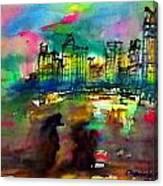 Beautiful Light In The Evening Of Pattaya Beach Canvas Print