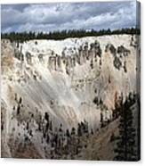 Beautiful Lighting On The Grand Canyon In Yellowstone Canvas Print