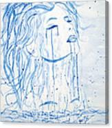Beautiful Sea Woman Watercolor Painting Canvas Print