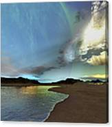 Beautiful Skies Shine Down On This Canvas Print