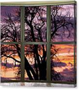 Beautiful Sunset Bay Window View Canvas Print
