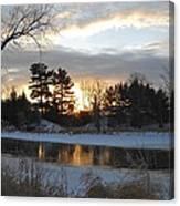 Beautiful Winter Dawn Canvas Print