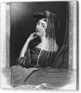 Beauty In Gondola, 1842 Canvas Print