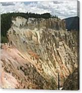 Beauty Of The Grand Canyon In Yellowstone Canvas Print