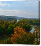 Beauty On The Bluffs Autumn Colors Canvas Print