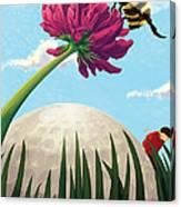 All Players Great And Small - Bee Canvas Print