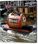Beer Boat Canvas Print