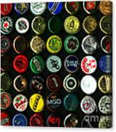 Beer Bottle Caps . 9 To 12 Proportion Canvas Print