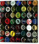 Beer Bottle Caps . 8 To 10 Proportion Canvas Print