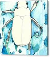Beetle Swim Canvas Print
