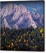 Beginning Of Mountain Fall Canvas Print