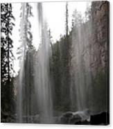 Behind The Falls2 Canvas Print