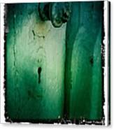 Behind The Green Door Canvas Print