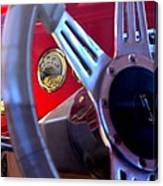 Behind The Wheel Of A 1940 Ford Canvas Print