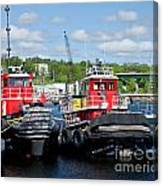 Belfast Tugboats Canvas Print