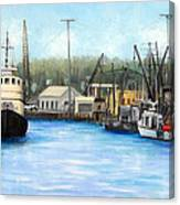 Belford Fishing Seaport Nj Canvas Print