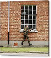 Belgian Soldiers On Patrol Canvas Print