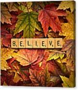 Believe-autumn Canvas Print