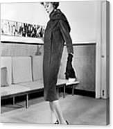 Below-the-knee Trapezoid Dress Canvas Print