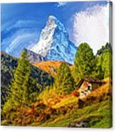 Below The Matterhorn Canvas Print