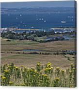 Bembridge Harbour And The Solent Canvas Print