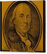 Ben Franklin In Orange Canvas Print