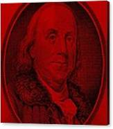 Ben Franklin In Red Canvas Print