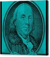 Ben Franklin In Turquois Canvas Print