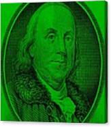 Ben Franklin Ingreen Canvas Print
