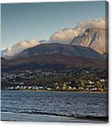 Ben Nevis And Loch Linnhe Panorama Canvas Print