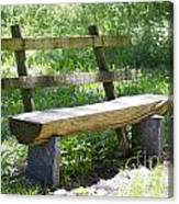 Bench Made Of Wood Canvas Print
