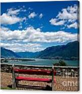 Bench With Panorama View Canvas Print