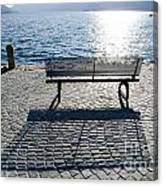 Bench With Shadow Canvas Print