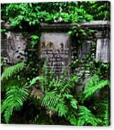 Beneath This Stone  Canvas Print