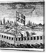 Benjamin Franklin: Battery Canvas Print