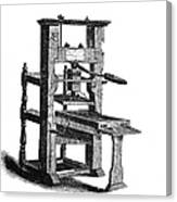 Benjamin Franklins Printing Press Canvas Print