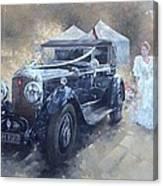 Bentley And Bride  Canvas Print