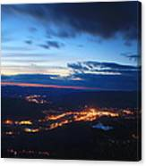 Berkshire Evening From Spruce Hill Savoy Mountain Canvas Print