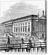 Berlin: Opera House, 1843 Canvas Print