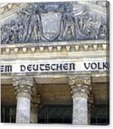 Berliner Reichstag Canvas Print
