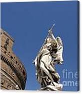 Bernini Statue On The Ponte Sant Angelo Canvas Print