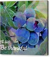 Berry Beautiful Canvas Print